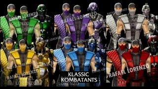 All KLASSIC (Costume Mod) Mortal Kombat Performs Demostration, Intros & Victory Celebrations MK PC