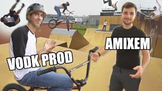 On a testé le SKATEPARK de VODK PROD avec des RIDERS PRO ! (feat. AMIXEM)