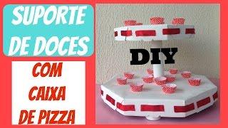COMO FAZER SUPORTE DE DOCES COM CAIXA DE PIZZA-DIY-simplesmente Ci