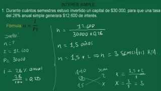 INTERÉS SIMPLE CÁLCULO DEL TIEMPO -  EJERCICIO 16.