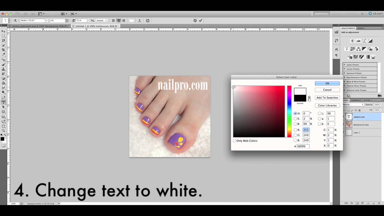 Tutorial how to watermark nail photos for instagram youtube tutorial how to watermark nail photos for instagram ccuart Image collections