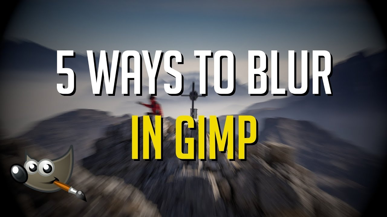 Blur text in image gimp | What is the best way to fix a