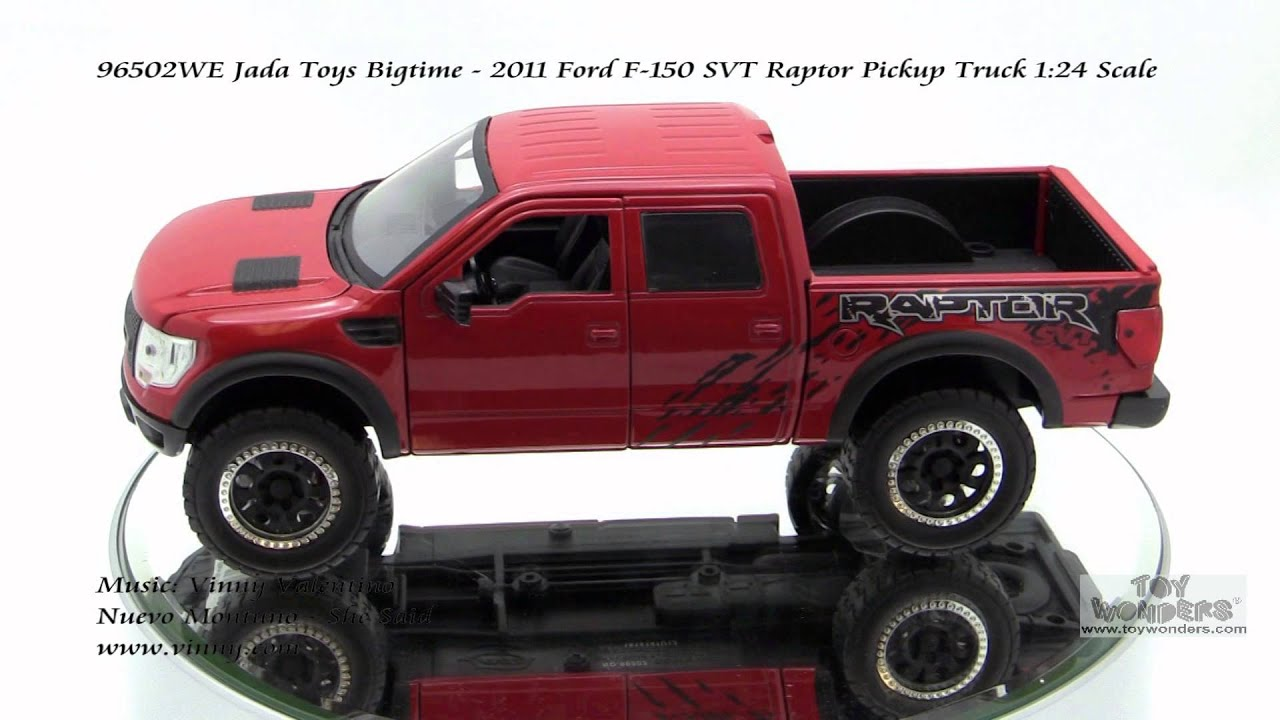96502we jada toys bigtime 2011 ford f150 svt raptor pickup truck 124 scale diecast wholesale youtube