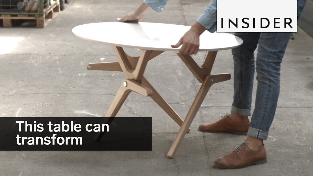 This Table Tranforms From A Coffee To Dining
