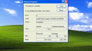Backup and Restore Wizard in Windows XP