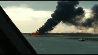 Катастрофа в аэропорту Шереметьево  Видео очевидцев