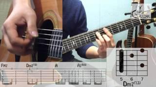 [그랩더기타] 2 Years Apart - 에디킴 (Eddy Kim) [Guitar Tutorial 기타 강좌]