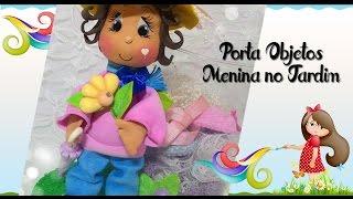 Porta Objetos Menina No Jardim Prof Ana Carolina Trevisol