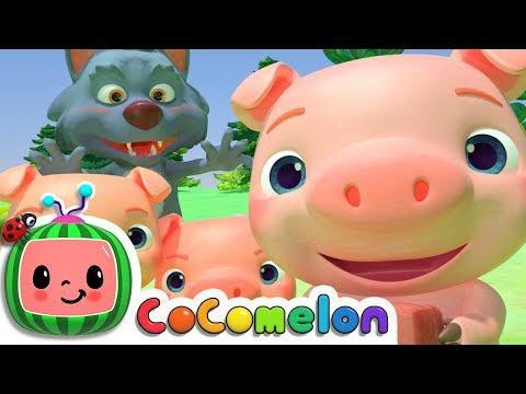 Three Little Pigs  Nursery Rhymes & Kids Songs  ABCkidTV