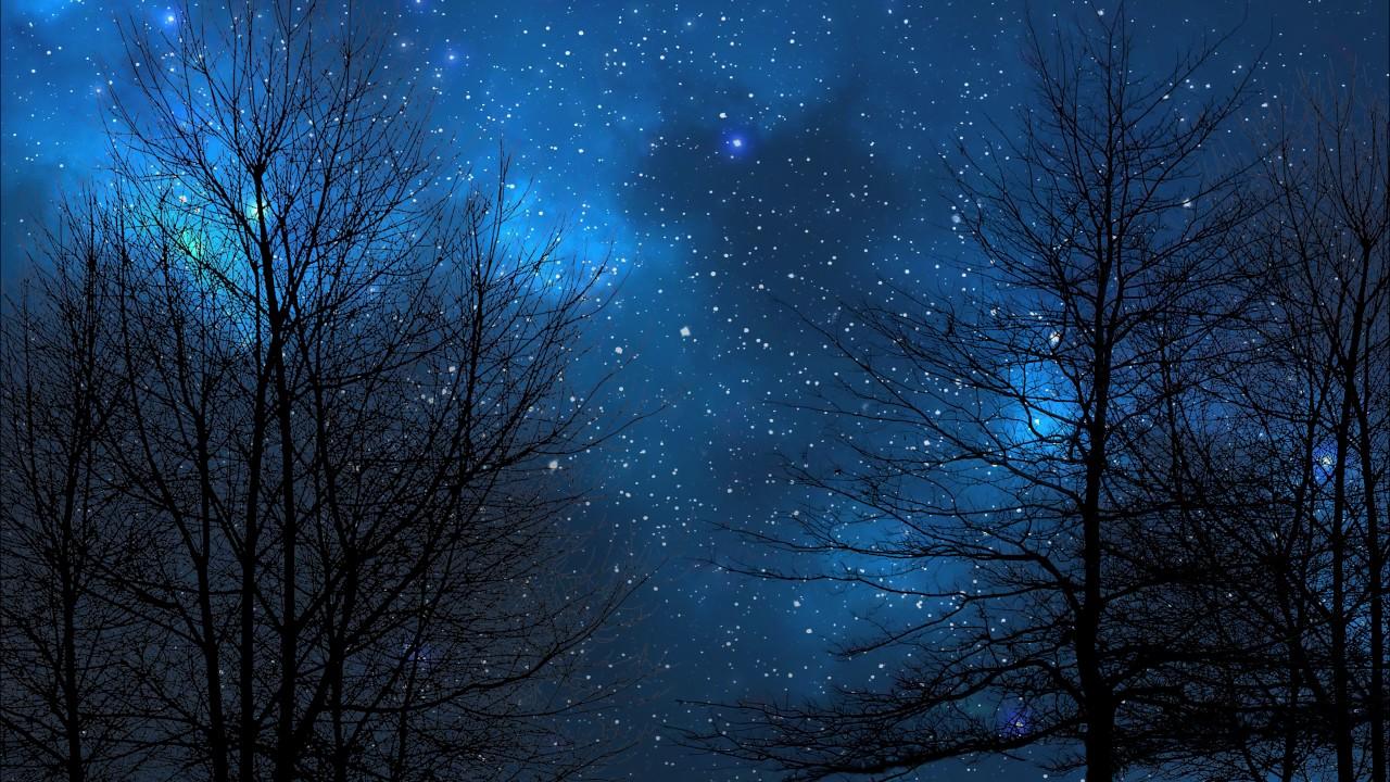 Night Sky Blue Version 4K DreamScene Live Wallpaper YouTube