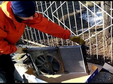 Замена радиатора на Дэу Нексия за 30минут!