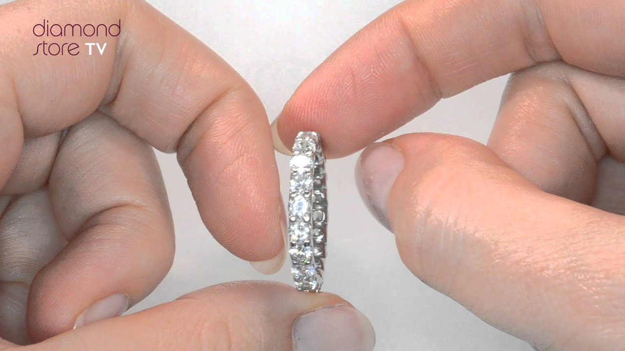 Chloe 2ct Diamond Eternity Ring In Platinum Hg34 Youtube