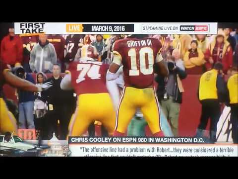 Ryan Clark tears Chris Cooley a new one LIVE ON ESPNs First Take!!