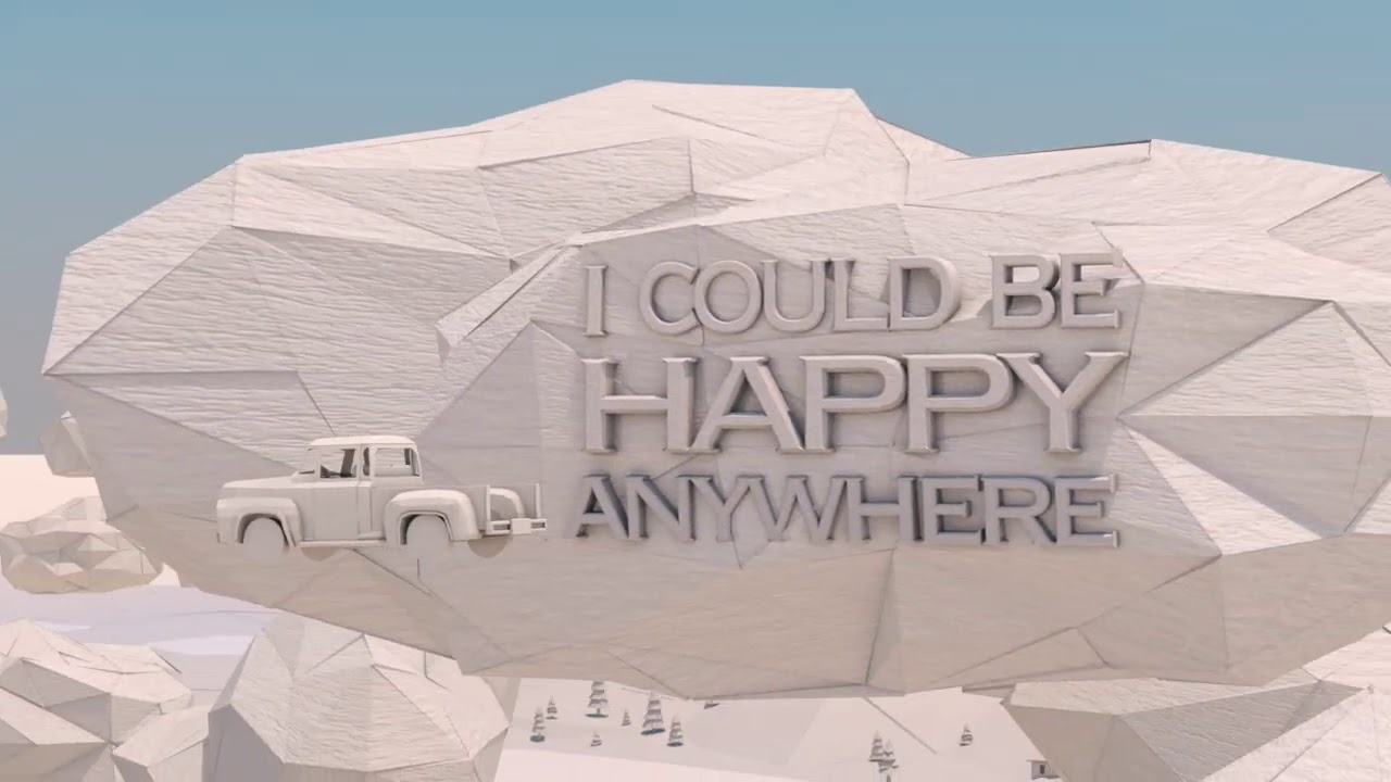 Blake Shelton - Happy Anywhere (feat. Gwen Stefani) (Lyric Video)