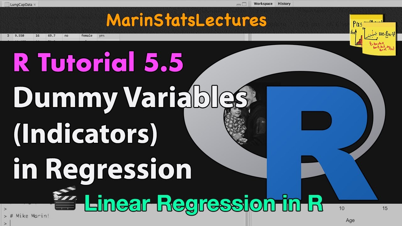 Dummy Variables or Indicator Variables in R   R Tutorial 5 5    MarinStatsLectures