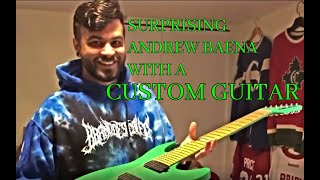 Surprising Andrew Baena with a cust...