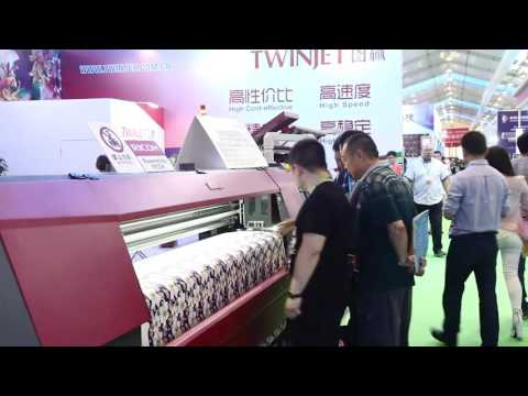 2016 China Keqiao Textile Printing Industry Expo TWINJET Textile Digital Printer Display