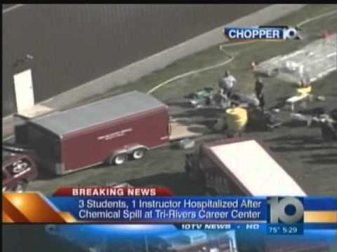 Chemical spill at Tri Rivers Career Center (TV Coverage)
