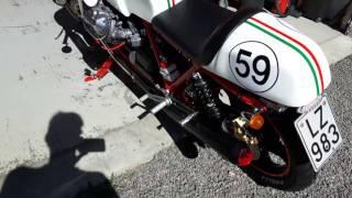 Guzzi Cafe Racer, Racer Style, SP 1000 1983 with LaFranconi sounds