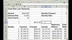 How to find Interest & Principal payments on a Loan in Excel