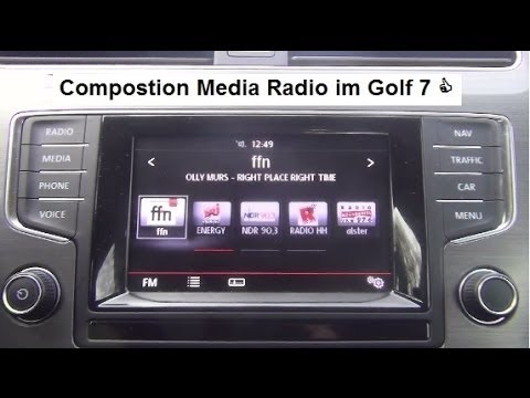 golf 7 composition media radio und navigationsssystem youtube. Black Bedroom Furniture Sets. Home Design Ideas