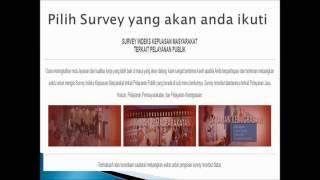 Cara pengisian survey elektronik indeks kepuasan masyarakat Kanwil Kemenkumham Kalimantan Barat