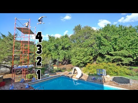 Thumbnail: BACKYARD CLIFF JUMPING!! *FOUR STORIES*