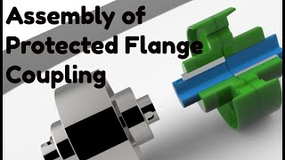 Protected flange coupling
