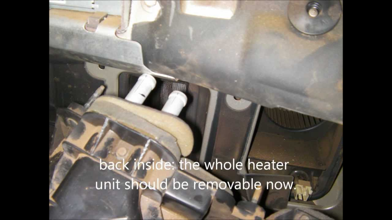 Heater Core Replacement In A 2000 Ford Ranger