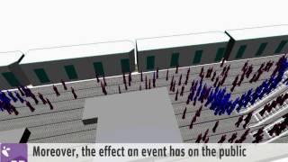 Pedestrian Dynamics Open Air Event Crowd Simulation