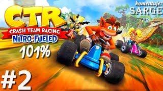 Zagrajmy w Crash Team Racing: Nitro-Fueled PL (101%) odc. 2 - CTR Challenge: N. Sanity Beach