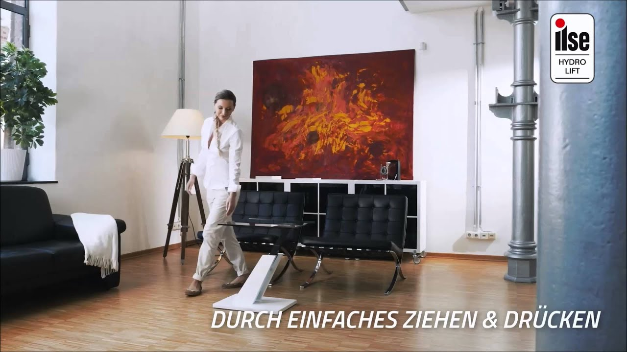 couchtisch mit hydro lift funktion youtube. Black Bedroom Furniture Sets. Home Design Ideas