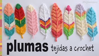 Plumas reversibles a crochet - English subtitles: Crochet reversible feathers / Tejiendo Perú