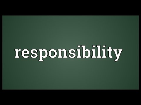Responsibility Meaning