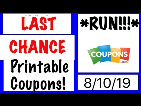 Last Chance PRINTABLE COUPONS!- 8/10/19- YOU BETTER *RUN!*