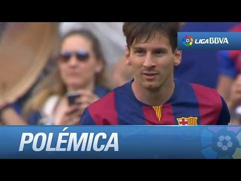 Polémica: Gol mal anulado a Messi por fuera de juego