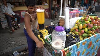 MANGO JUICE: Tasty Mango Juice Summer Special Mango Shake | Indian Street Food