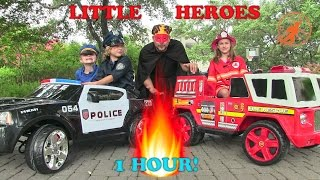 Video Little Heroes Compilation Video -1 Hour with The Spark, The Stealer, Fire Engines and Kid Cops download MP3, 3GP, MP4, WEBM, AVI, FLV November 2017