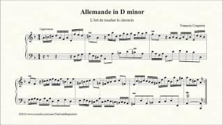 Couperin, Allemande in D minor