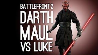 Battlefront 2: DARTH MAUL vs LUKE SKYWALKER - 🎵DUEL OF THE FATES SINGALONG🎵 (Split Screen Gameplay)