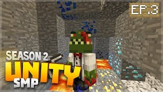 THE LUCKIEST MINING ADVENTURE EVER!! EP.3 - Minecraft Pocket Edition Unity Realm SMP Season 2