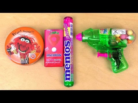 Thumbnail: Mentos Mints | Disney The Muppets Candy | Candy Space Gun | Mentos Rainbow