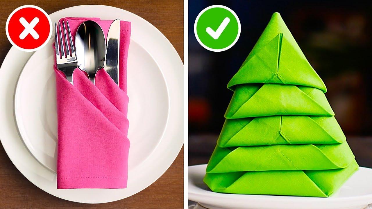 How To Fold Napkin Into Christmas Tree.23 Fun Ways To Fold The Perfect Holiday Napkin