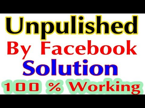 Facebook Page Unpublished By Facebook Solved-100% Working Method