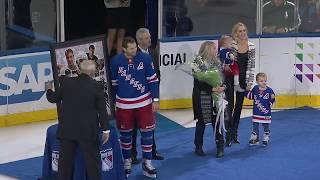 New York Rangers, Columbus Blue Jackets president John Davidson commemorate Rick Nash for 1000 games