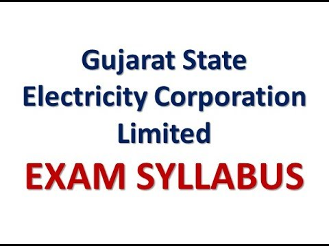 gsecl exam syllabus ||Gujarat State Electricity Corporation Limited