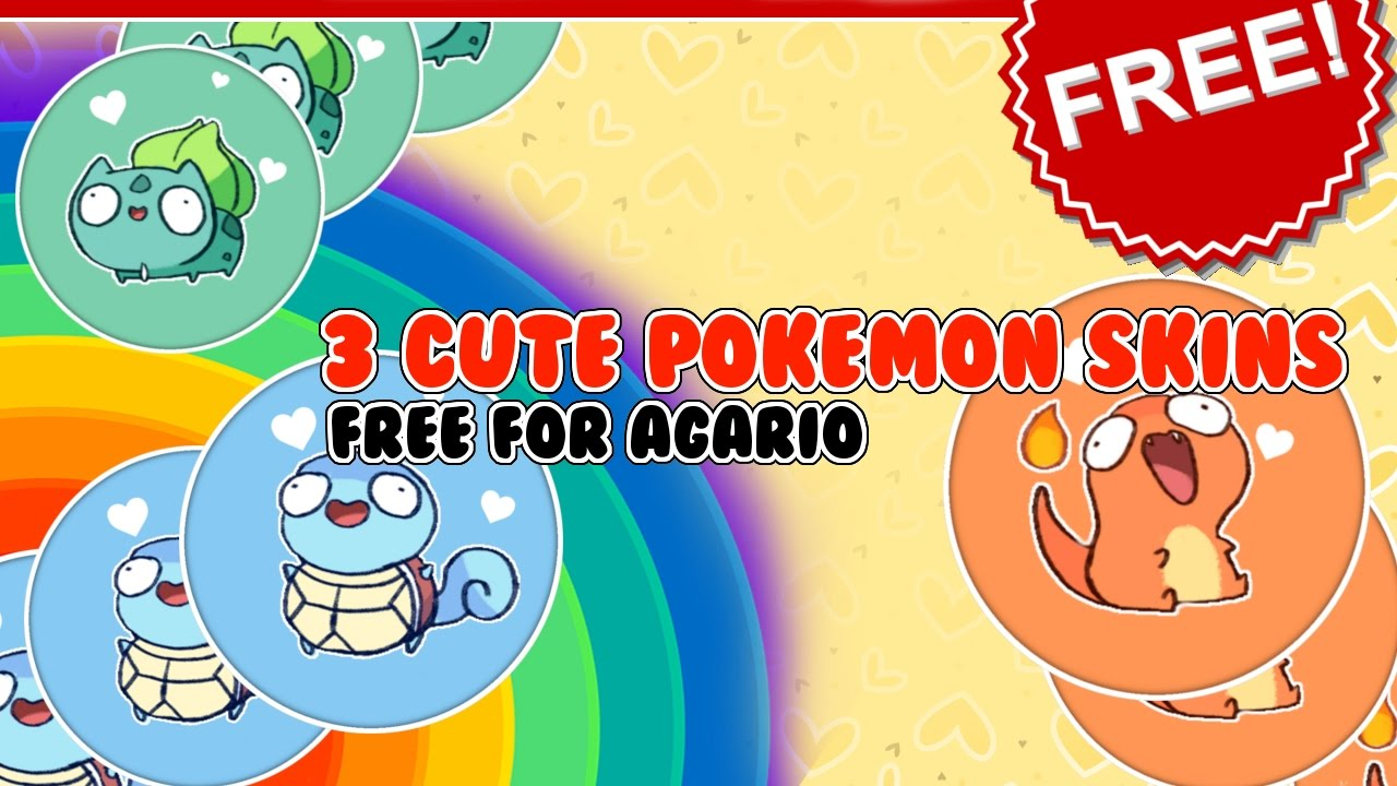 3 CUTE POKEMON SKINS [for Free] // Agario Skins || MaYuu