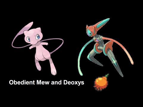 Obtain Obedient Mew And Deoxys With Pomeg Data Corruption Glitch (US Emerald)