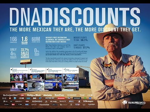 """Award-winning DNA DISCOUNTS advertisement for """"AeroMexico"""" airlines"""
