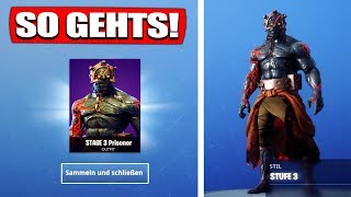 Fortnite Snowfall Skin STUFE 2 & 3 Unlock! | Key search! - Fortnite Battle Royale